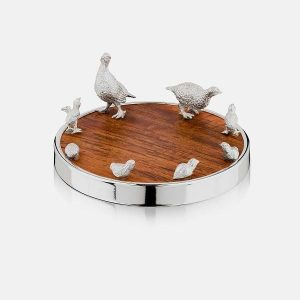 SCOTTISH SILVER Bottle Coaster - Grouse