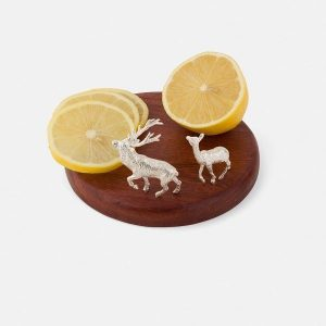 SCOTTISH SILVER Lemon Board - Stag and Hind