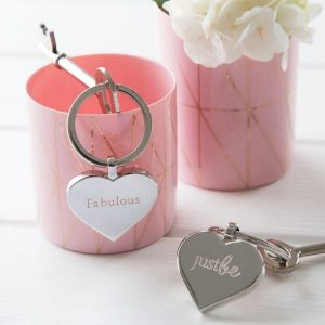 JUSTBE - Fabulous Engraved Key Ring & Chocolate Gift Set