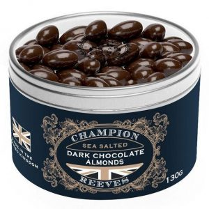 CHAMPION & REEVES Dark Chocolate Almonds Gift Tin
