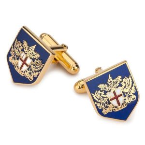 BENSON & CLEGG City Of London Crest Cufflinks - Gold