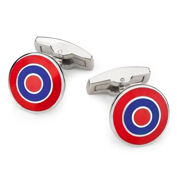BENSON & CLEGG Interceptor Cufflinks - Red/Navy