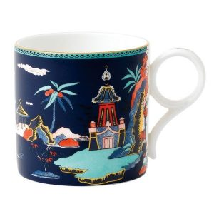 WEDGWOOD Wonderlust Blue Pagoda Mug - Large