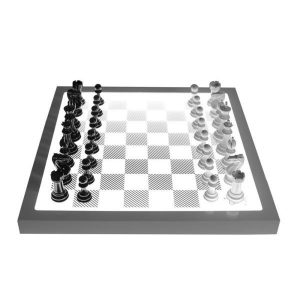 PURLING LONDON Dark Chess Set - Shadow Black & Gloss White