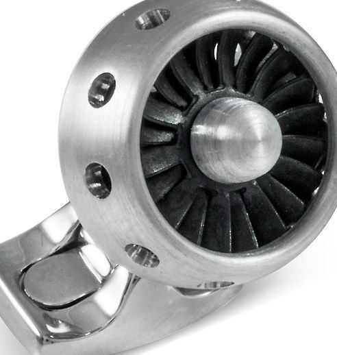 DEAKIN & FRANCIS Jet Turbine Engine Cufflinks - Brushed Aluminium