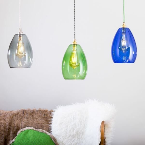 GLOW LIGHTING Bertie Glass Pendant - Blue
