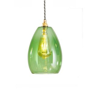GLOW LIGHTING Bertie Glass Pendant - Green