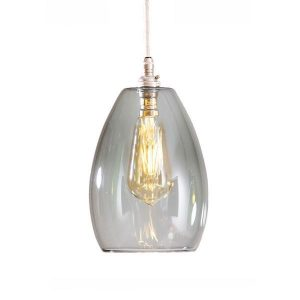 GLOW LIGHTING Bertie Glass Pendant - Smoked
