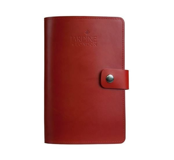JARDINE OF LONDON Suffolk Leather Journal - Red