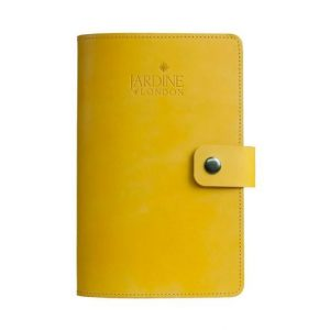 JARDINE OF LONDON Suffolk Leather Journal - Yellow