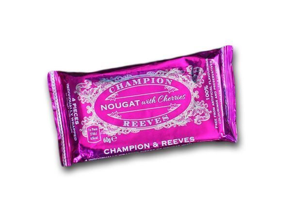 CHAMPION & REEVES Snack pack of Nougat with Cherries - 4 pieces