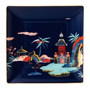WEDGWOOD Wonderlust Blue Pagoda Tray